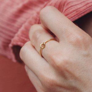 Borboletta Jukserei Ring Cloe vergoldet